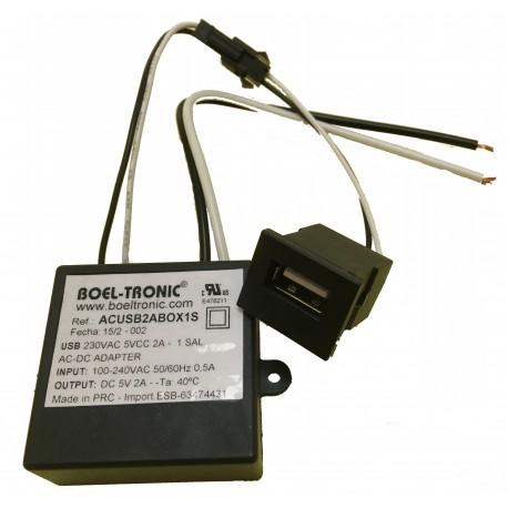 USB 230VAC 5VCC 2A