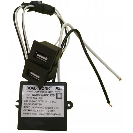 USB 230VAC 5VCC 2A 2S